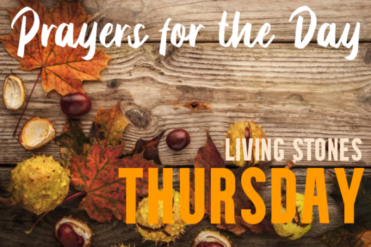 Thursday Prayers for the Day